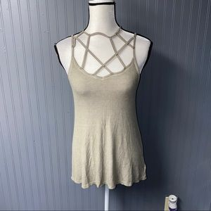 Women's American eagle caged front tank top xs